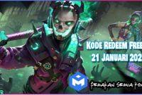 Kode Redeem Free Fire 21 Januari 2021 Server Indonesia